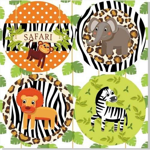 Adesivo Safari Redondo 20 Unid Armarinhos Santa Cec 237 Lia