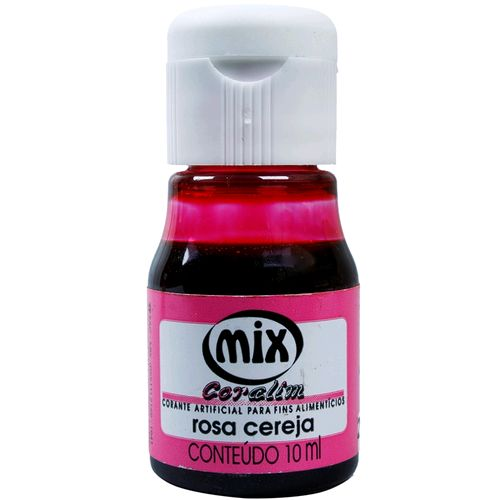 Corante Líquido 10ml - Mix - Rosa Cereja