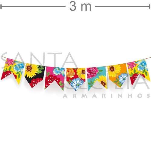 Varal De Bandeirinhas 3 M X 16 Cm Quadrilha Ref 23011730