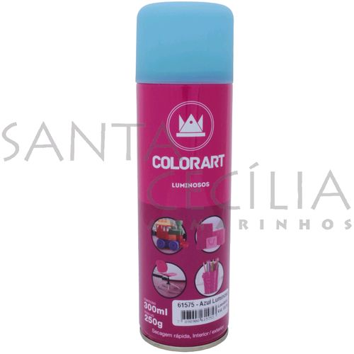 Tinta Spray Colorart Luminoso 300ml - Azul
