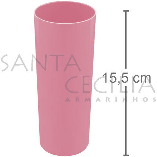 Copo Long Drink 350ml - Rosa Claro
