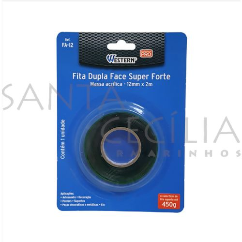 Fita Dupla Face Super Forte FA-12 - 12mm x 2m