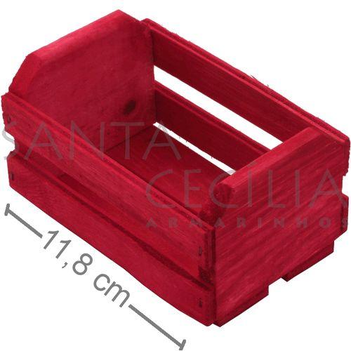 2edbe585299 Mini Caixote de Madeira - Vermelha