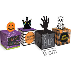 Caixa Pop Up Halloween 10 unid. - Doces/Travessuras 23012166