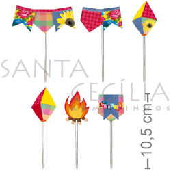 Pick Decorativo 12 unid. - Arraial Junino Sortido Ref. 28810078