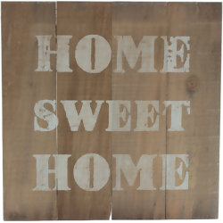 Placa Decorativa Home Sweet Home CY233/CY232