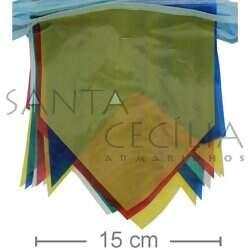 de4b72c39c954 Bandeirolas Coloridas para Festa Junina - Plástica Pequena - 10 metros