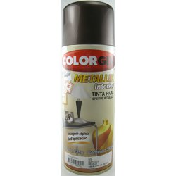 Tinta Acrílica em Spray Colorgin Metallik Bronze 350ml.