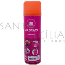 Tinta Spray Colorart Luminoso 300ml - Laranja