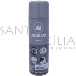 Tinta Spray Colorart Metálicos 300ml - Prata