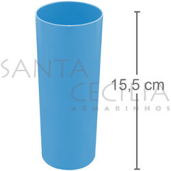 Copo Long Drink 350ml - Azul Claro