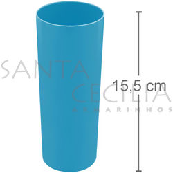 Copo Long Drink 350ml - Azul Turquesa