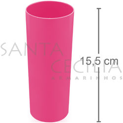 Copo Long Drink 350ml - Rosa Neon