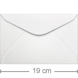 Envelope Ultramar Branco 100 unid. - 130 x 190mm