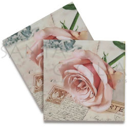 Guardanapo de Papel Decoupage 20 unid. Postcard Rose 21704