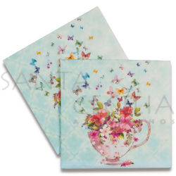 Guardanapo de Papel Decoupage 20 unid. Cup Of Flowers 21713