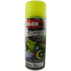 Tinta Spray Luminosa Colorgin Acrílica Fosca Amarelo 350ml.