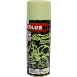 Tinta Spray Luminosa Colorgin Acrílica Fosca Fosforecente 350ml.