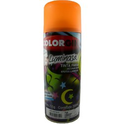 Tinta Spray Luminosa Colorgin Acrílica Fosca Laranja 350ml.