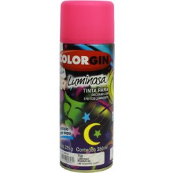 Tinta Spray Luminosa Colorgin Acrílica Fosca 350ml.