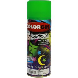 Tinta Spray Luminosa Colorgin Acrílica Fosca Verde 350ml.