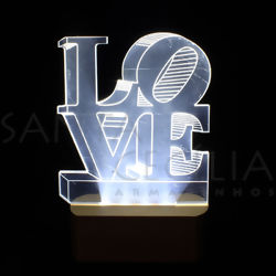 Luminoso LED - Love Branco CM7917