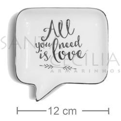 Mini Prato Decorativo em Cerâmica All You Need Is Love - NC8178108-15